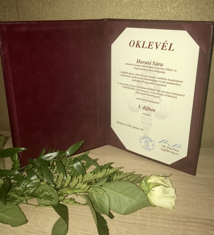 Károlis díjazottak az Ügyészség Napján