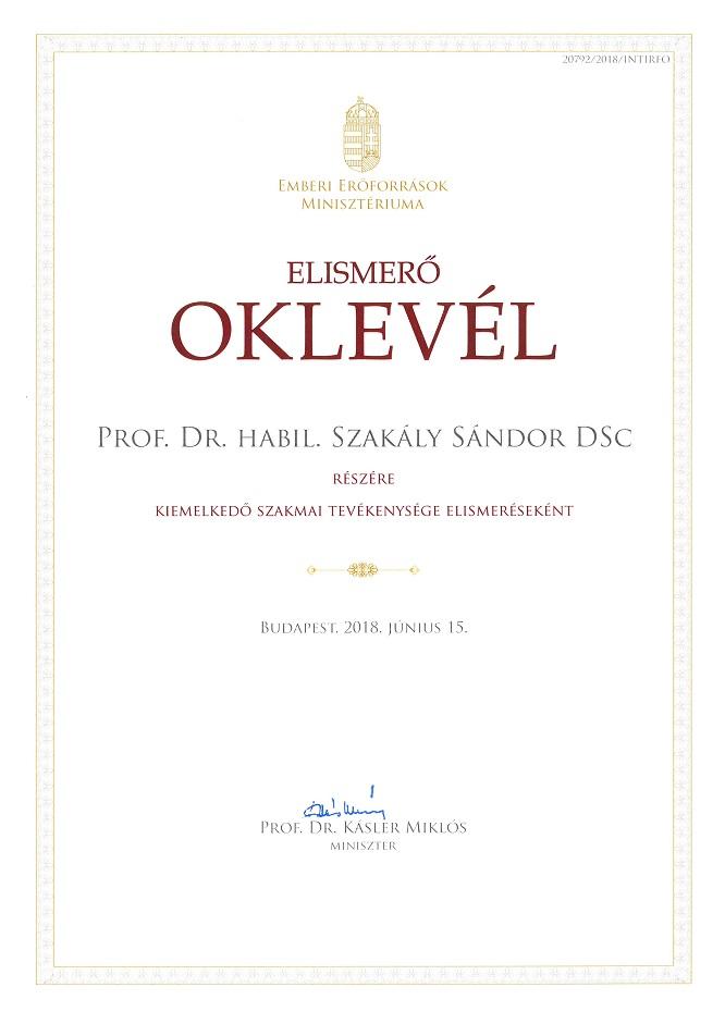 Oktatói kitüntetés